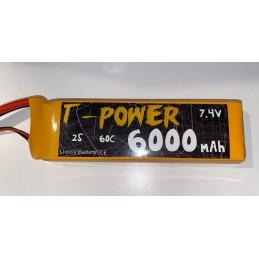 T-Power LIPO 6000-2s-60c