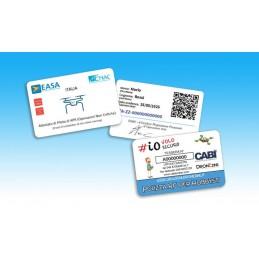 Card Patentino Drone A1-A2-A3